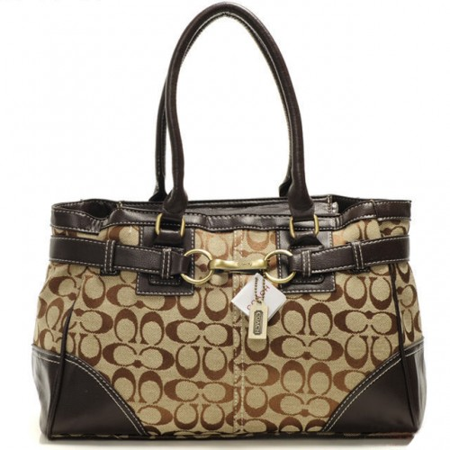 Coach Legacy In Signature Medium Coffee Satchels AAP