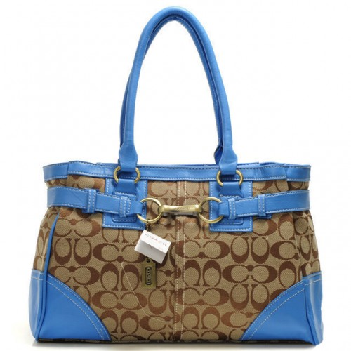 Coach Legacy In Signature Medium Blue Satchels AAR