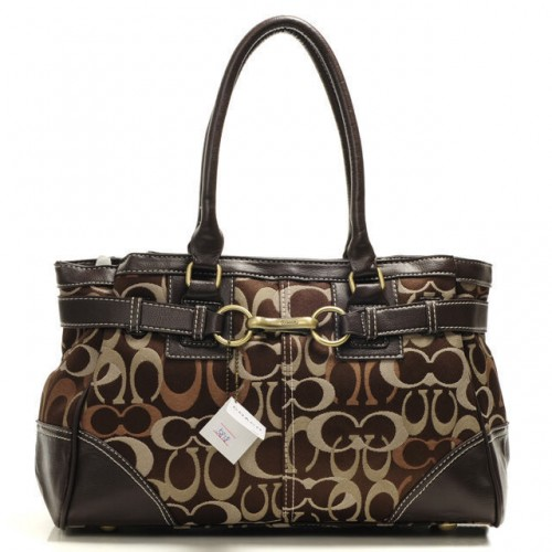 Coach Legacy In Signature Medium Coffee Satchels AAS
