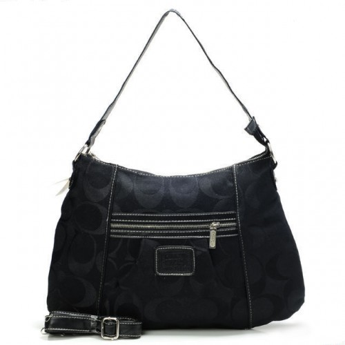 Coach Legacy In Signature Medium Black Shoulder Bags AAZ