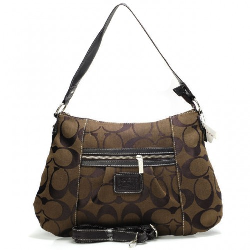 Coach Legacy In Signature Medium Coffee Shoulder Bags ABA