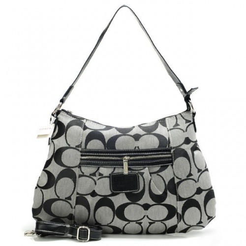 Coach Legacy In Signature Medium Grey Shoulder Bags ABB