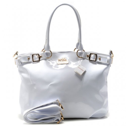 Coach Madison Kelsey Smooth Large White Satchels ABQ