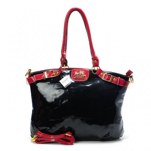 Coach Madison Kelsey Smooth Medium Black Satchels ABV