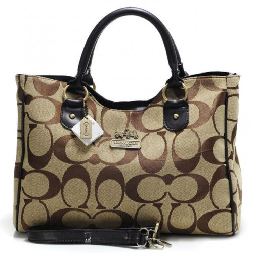 Coach Legacy In Signature Large Khaki Satchels ACC