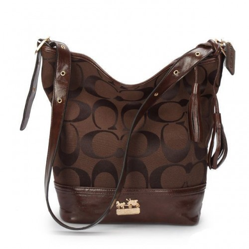 Coach Legacy Duffle In Printed Signature Medium Coffee Crossbody
