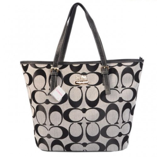 Coach Legacy In Signature Medium Grey Totes ACR