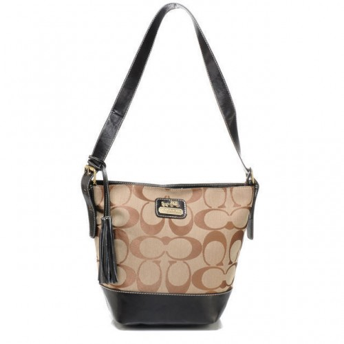 Coach Legacy Duffle In Printed Signature Small Khaki Crossbody B
