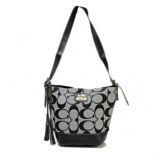 Coach Legacy Duffle In Printed Signature Small Grey Crossbody Ba