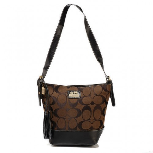 Coach Legacy Duffle In Printed Signature Small Coffee Crossbody
