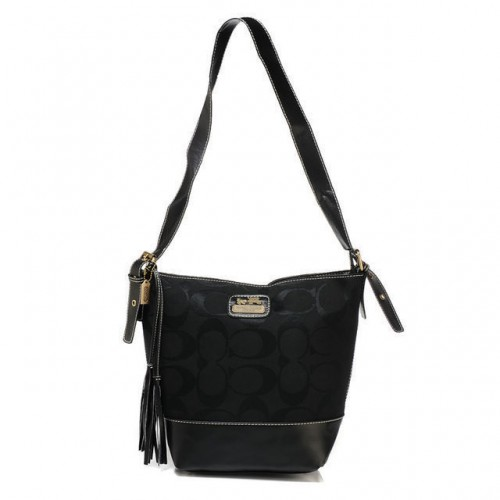 Coach Legacy Duffle In Printed Signature Small Black Crossbody B