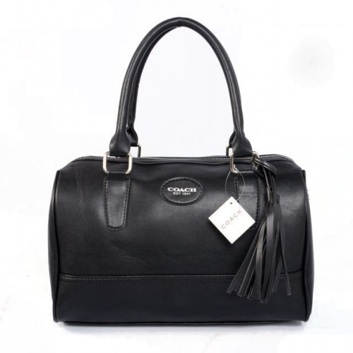 Coach Legacy Haley Medium Black Satchels ADJ