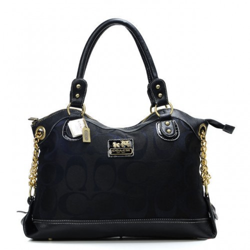 Coach Legacy Pinnacle Lowell In Signature Large Black Satchels A