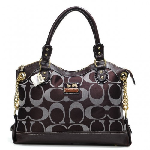 Coach Legacy Pinnacle Lowell In Signature Large Coffee Satchels