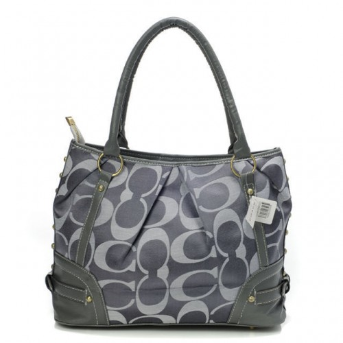 Coach Poppy In Signature Medium Grey Totes AEL