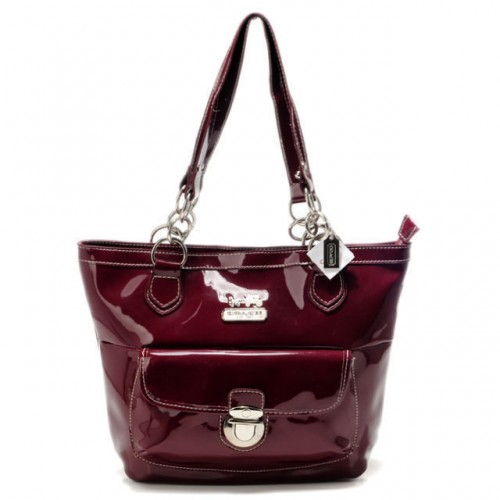 Coach Willis Colorblock Medium Red Totes AFB