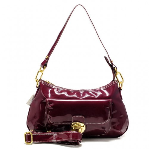 Coach Kristin Colorblock Medium Red Shoulder Bags AFF