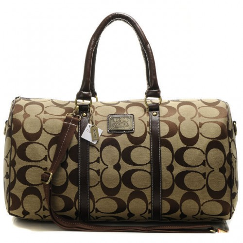 Coach Bleecker Monogram In Signature Large Khaki Luggage Bags AF