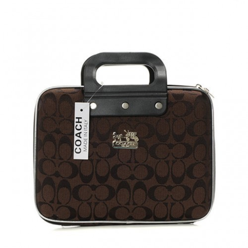 Coach In Signature Medium Coffee Business bags AFQ