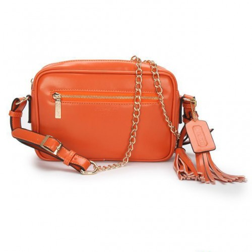 Coach Legacy Flight Medium Orange Crossbody Bags AFV