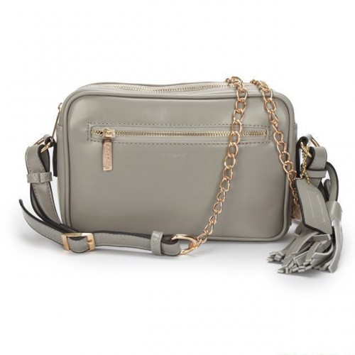 Coach Legacy Flight Medium Grey Crossbody Bags AFX