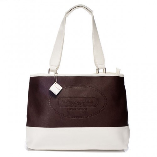 Coach Hamptons Weekend Perforated Medium Coffee Totes AGC