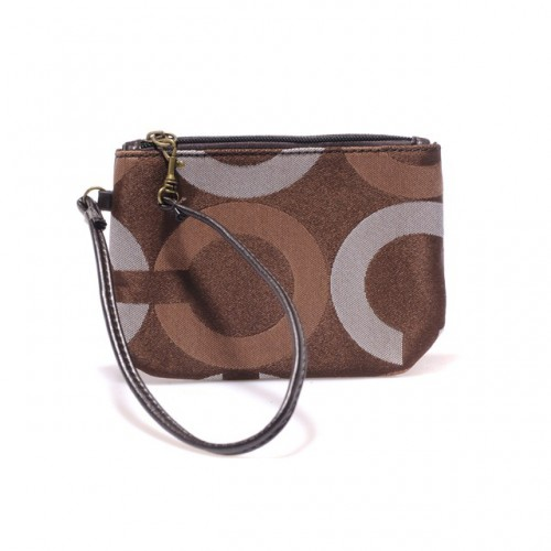 Coach Legacy In Signature Small Coffee Wristlets AHT