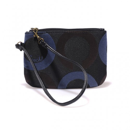 Coach Legacy In Signature Small Black Wristlets AHU