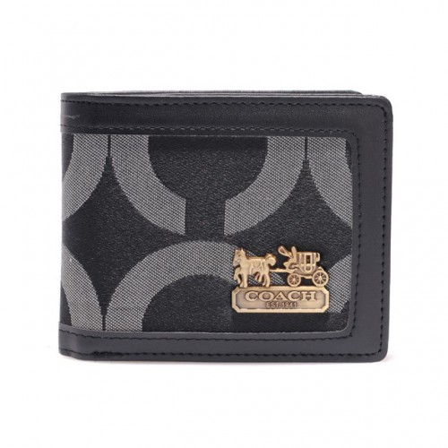 Coach In Signature Large Grey Wallets AIB