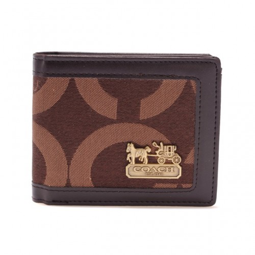 Coach In Signature Large Coffee Wallets AIC