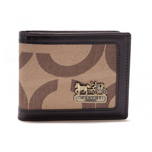 Coach In Signature Large Khaki Wallets AIE