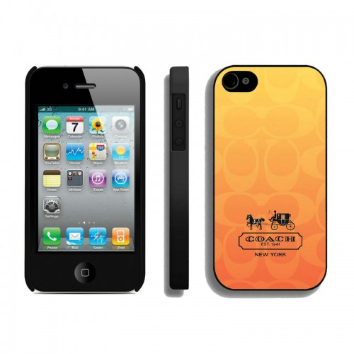 Coach In Signature Orange iPhone 4 4S Cases AIM