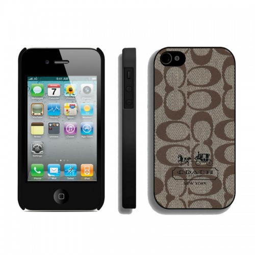 Coach In Signature Beige iPhone 4 4S Cases AIN