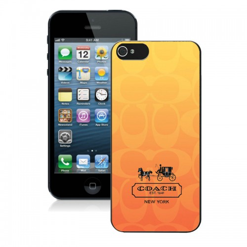Coach In Signature Orange iPhone 5 5S Cases AIW