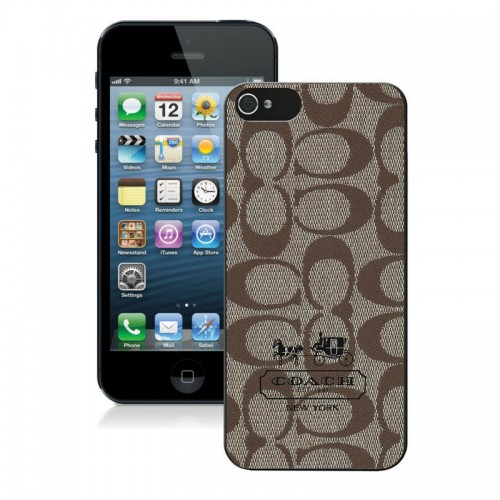 Coach In Signature Beige iPhone 5 5S Cases AIX