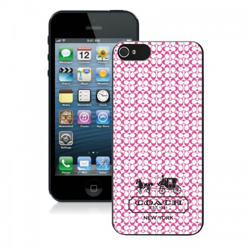 Coach In Confetti Signature Pink iPhone 5 5S Cases AJA