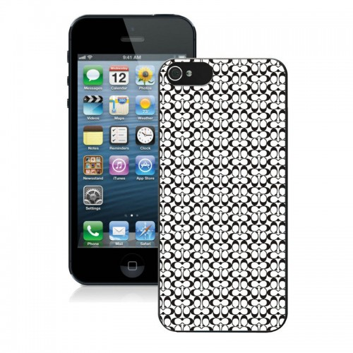 Coach In Confetti Signature Black iPhone 5 5S Cases AJB