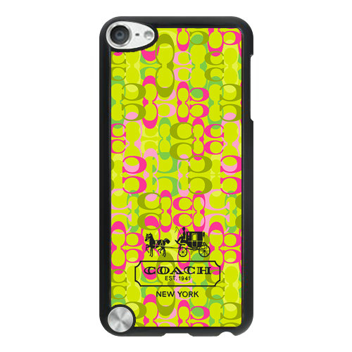 Coach In Confetti Signature Green iPod Touch 5TH AJJ