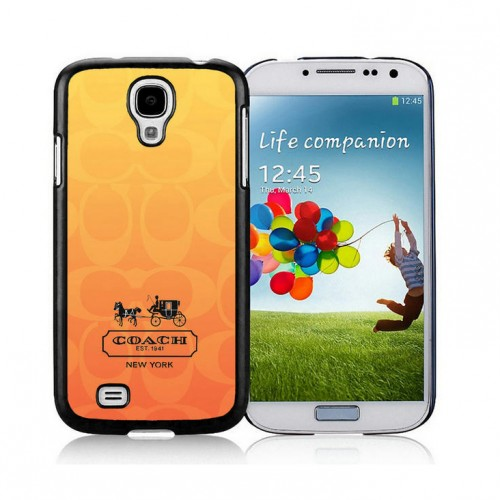 Coach In Signature Orange Samsung Galaxy S4 9500 AJQ