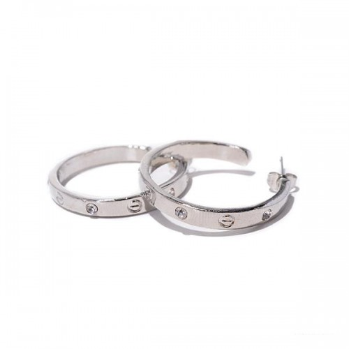 Coach Ring Stud Silver Earrings AJZ