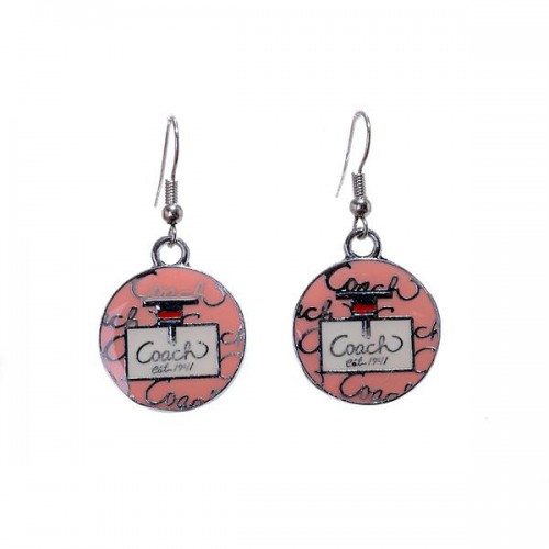 Coach Logo Pink Earrings AKE