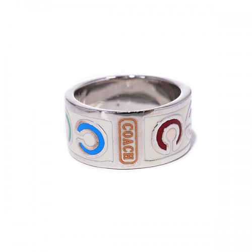 Coach Op Art White Rings AKK