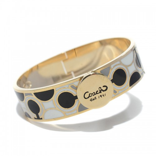 Coach Linked Signature C Black Bracelets AKS