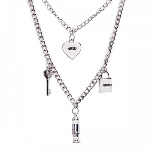 Coach Love Silver Necklaces ALT
