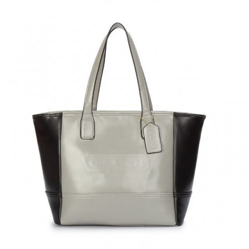 Coach City Saffiano Small Grey Totes ANO