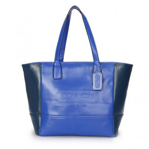 Coach City Saffiano Small Blue Totes ANP