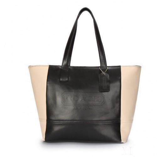 Coach City Saffiano Small Black Totes ANQ