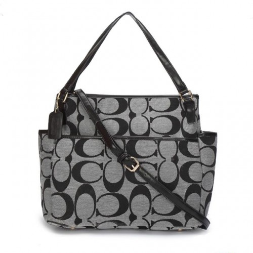 Coach Baby In Signature C Fabric Medium Grey Totes ANX