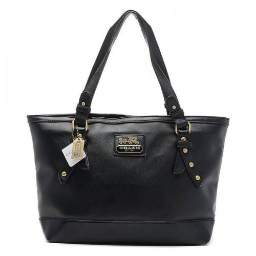Coach City Saffiano Large Black Totes AOC