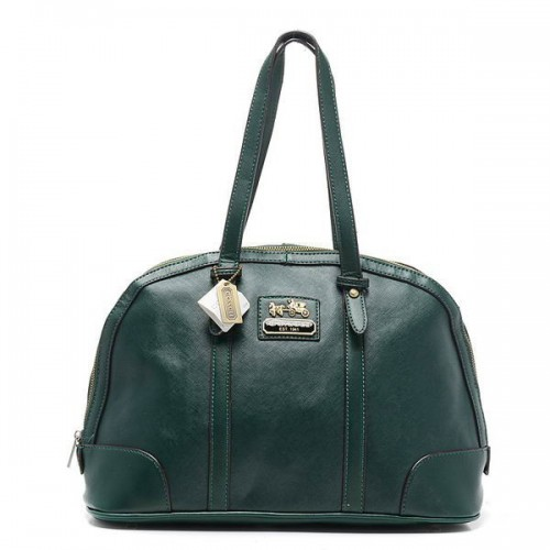 Coach Bleecker Bistro Large Green Satchels AOD